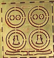1:43 Фототравление Бедлоки (боковые фиксаторы покрышки) на 16-дюймовое колесо