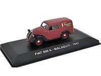 """1:43 FIAT 500A """"MALAGUTI"""" 1947 Maroon"""