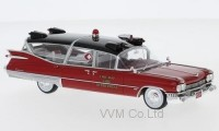 "1:43 CADILLAC Superior Ambulance ""Chicago Fire Department"" (пожарная медицинская помощь) 1959 Red"