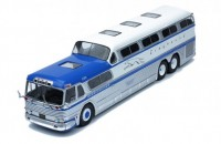 "1:43 автобус GM PD-4501 ""GREYHOUND SCENICRUISER"" 1956 Blue/White"