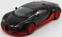 1:18 Bugatti Veyron 16.4 Super Sport 2010 (carbon black / orange skirts)