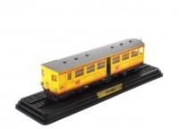 1:87 ZR-20001 (UNE REMORQUE DU TRAIN JAUNE) (LA REMORQUE COUVERTE ZR-20001) 1909 Yellow/Grey