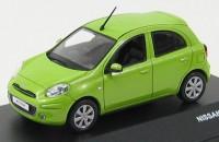 1:43 NISSAN MICRA Green 2011 (новый кузов)