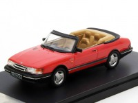 1:43 SAAB 900 Turbo Convertible 1991 Red