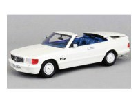 1:43 MERCEDES-BENZ 500SEC AMG BB Magic Top Convertible 1985 Metallic White