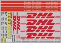 1:43 Набор декалей Контейнеры DHL (200х140)