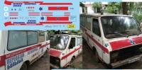 1:43 набор декалей РАФ 2203 перевозка больных (скорая)
