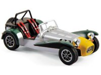 1:43 CATERHAM Super Seven 1983 Aluminium Yellow/Green