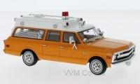 "1:43 CHEVROLET Suburban ""Ambulance"" (скорая медицинская помощь) 1970 Orange/White"