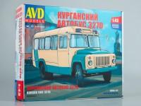 1:43 Сборная модель Курганский автобус-3270