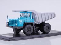 1:43 БЕЛАЗ-540А карьерный самосвал (голубой/серый)