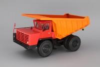 1:43 БелАЗ-7510 самосвал-углевоз, красный / оранжевый