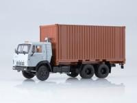 1:43 KAMAЗ-53212 с 20-футовым контейнером серый/коричневый