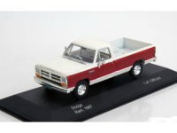 1:43 DODGE Ram 1987 White/Dark Red