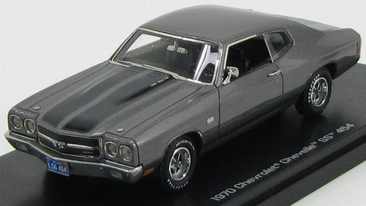 1:43 Chevrolet Chevelle SS 454 1970 (shadow gray w/black)