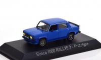 1:43 SIMCA 1000 Rallye 3 Prototype 1978 Talbot Blue