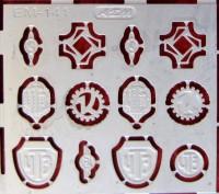 1:43 Фототравление Логотипы тракторных заводов