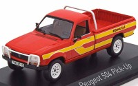 1:43 PEUGEOT 504 Pick-Up 4x4 Dangel 1985 Red/Yellow