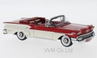 1:43 CHEVROLET Bel Air Impala Convertible 1958 Red/White