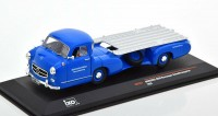 "1:43 MERCEDES-BENZ ""Blue Wonder"" racing-car transporter 1955 Blue"