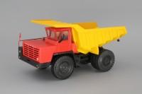 1:43 БелАЗ-540 самосвал, красный / желтый