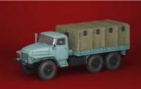 1:43 # 43 Уральский грузовик-375Д бортовой с тентом