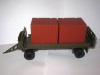 1:43 МАЗ-5245 прицеп с подкатной тележкой для перевозки 5-тонных контейнеров