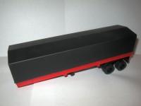 1:43 Полуприцеп к КАМский-5410 красный с черным тентом