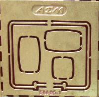 1:43 набор фототравления зеркала для МАЗ 64226
