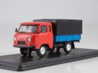 1:43 УАЗ-39095 с тентом, красный / синий