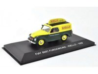"1:43 FIAT 500C FURGONCINO ""RIELLO"" 1959 Yellow/Green"