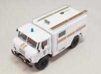 1:43 АСО-5 (66) мод.90 Автомобиль связи и освещения на шасси Горький-66 образца 1964 года вариант МЧС