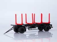 1:43 Прицеп МАЗ-83781 сортиментовоз,чёрный/красный