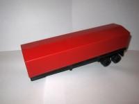 1:43 Полуприцеп к КАМский-5410 черный с красным тентом