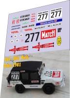 1:43 набор декалей Volkswagen Iltis 277 dakar 1981