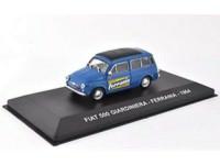 """1:43 FIAT 500 GIARDINIERA """"FERRANIA"""" 1964 Blue/Black"""