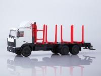 1:43 МАЗ-6303 сортиментовоз,белый/красный