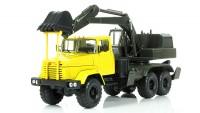 1:43 КрАЗ-6322 ЭО-4422 Экскаватор, желтый / зеленый