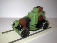 1:43 броневик ФАИ на железнодорожном ходу