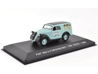 "1:43 FIAT 500 A FURGONCINO ""TRE TESTE"" 1948 Light Blue/Black"