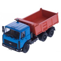 1:43 МАЗ 5516 самосвал (1995), голубой / оранжевый