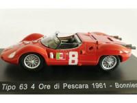 1:43 MASERATI Tipo 63 #8 Bonnier 4 Ore di Pescara 1961