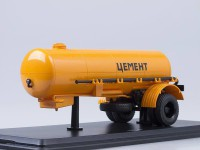 1:43 Полуприцеп ТЦ-4 Цемент, оранжевый