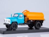 1:43 Ассенизационная машина АНМ-53 (53А), голубой / оранжевый