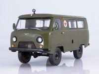 1:18 УАЗ-452А санитарный,хаки