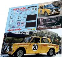 1:43 набор декалей ВАЗ 2101 Брундза 25 Acropolis Rally 1978