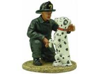 1:32 Американский пожарный с собакой г.Сан-Франциско 1930