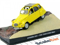 """1:43 CITROËN 2CV """"For Your Eyes Only"""" 1981 Yellow"""