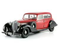 1:18 Mercedes-Benz 770 Limousine 1938 с фигурками (Cherry/Black)