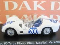 1:43 MASERATI Tipo 60 #200 Maglioli/Vaccarella Targa Florio 1960